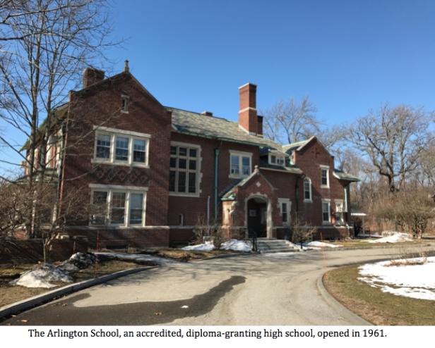 Arlington School with caption