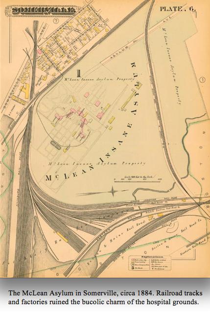 Asylum map 1884 with caption