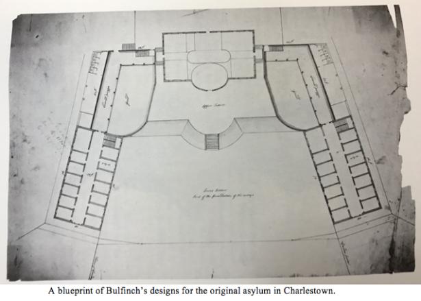 Bulfinch blueprint with caption