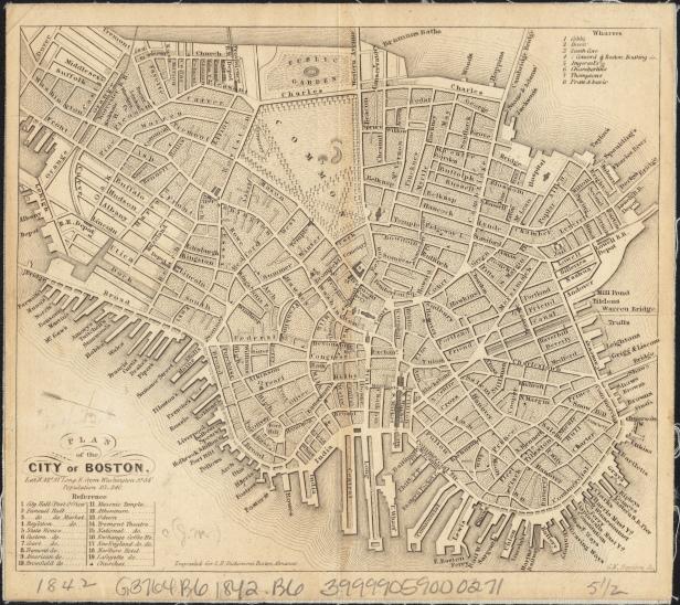 Photo B - 1842 Map of Boston